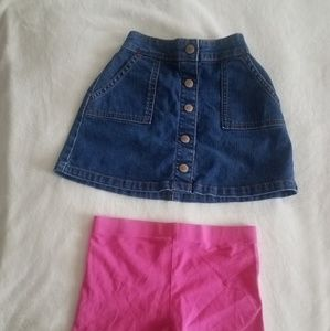 Girl's Lot of Boden Bottoms: Denim Skirt & Shorts